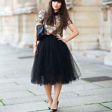 Women Ladies Princess 5-Layer Tutu Fancy Skirt Fairy Party Dress Tulle Ballet