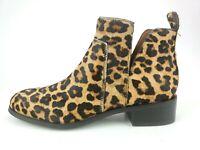 Franco Sarto Women's Shoes Bernie 2 Ankle Boot Fur Calf Hair Leopard Size 8.5