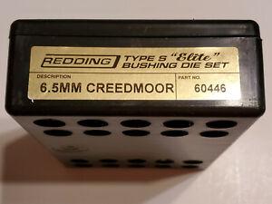60446 REDDING TYPE-S ELITE BUSHING 3-DIE SET - 6.5 CREEDMOOR - NEW FOR 2020!