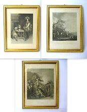 3 x xilografías siglo 19. Albert Henry Payne campo Subalmacén Oboz Heawood