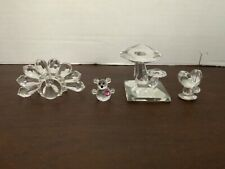 Lot of 4, Swarovski Iris Arc Crystal Figurines