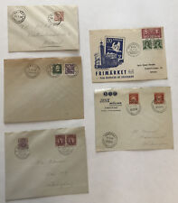 5 Sweden philatelic covers 1940s cachets and cancels [y3387]