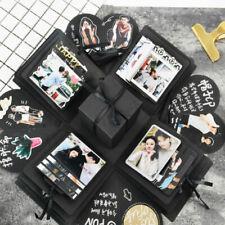 Explosionsbox, Geschenkbox zum selbst gestalten, mit integriertem Fotoalbum, DE