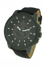 MARC ECKO BLACK CANVAS STRAP MENS WATCH E11596G3
