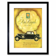 Ad Classic Car Automobile Reo-royale 5-passenger Victoria Eight Framed Wall Art