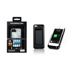 Blue High Quality 3000mAh Solar Battery Case Cover Power Bank For iPhone 5 5S