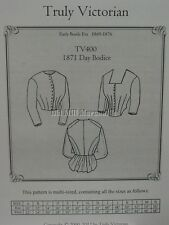 OLD WEST 1871 Bustle bodice top blouse sewing pattern Truly Victorian TV400