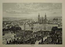 FRANCE. NANCY. ENGRAVED VIEW CIRCA 1880