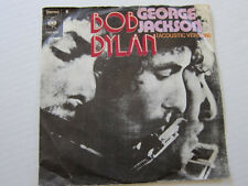 BOB DYLAN George Jackson Dutch acoustic and big band versions picture sleeve