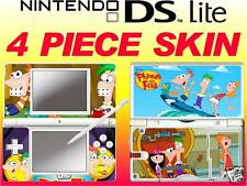 nintendo DS Lite - PHINEAS N FERB CARTOON  - 4 Piece Sticker Skin UK