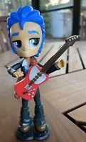 MY LITTLE PONY EQUESTRIA GIRLS MINIS BOY FLASH SENTRY BLUE HAIR RED GUITAR