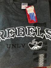 UNLV Rebels College NCAA Mens Gray White Gildan T-Shirt XL Officially Licensed
