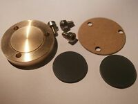 NEW THORENS TD 124 BRONZE BEARING END CAP THRUST PLATE 6 MM MADE IN ITALY