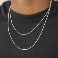 Men's Mini Micro 2mm Lab Simulated Diamond Tennis Chain Necklace
