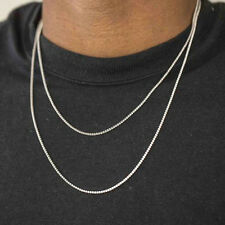 Men's Micro 2mm Lab Simulated Diamond Solitaire Hip Hop Tennis Chain Necklace