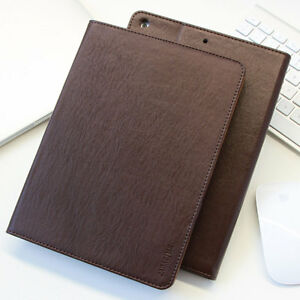 Premium Leder Cover Apple iPad Air 2 Tablet Schutzhülle Case Etui Tasche braun