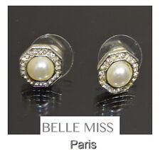 Luxus Ohrringe Ohrstecker Ohrschmuck Belle Miss Paris Perlen Verslibert Strass