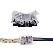 1/5 pcs 4pin led strip to wire connector 10mm tape light connector conductor  PD