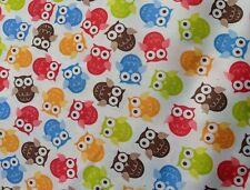 Polyurethane Laminate PUL Fabric Printed Waterproof Cute Owls ONE YARD