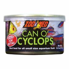 ZOO MED CAN O CYCLOPS 3.2OZ BETTA FISH FOOD COLOR PLANKTON & KRILL AQUARIUM