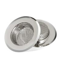 "2 PCS Kitchen Mesh Sink Strainer Drain Stainless Steel Large Wide 4.5"" Diameter"