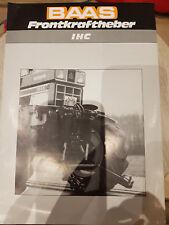 Prospektblatt Sales Brochure Baas Frontkraftheber IHC Agrar Landtechnik Traktor