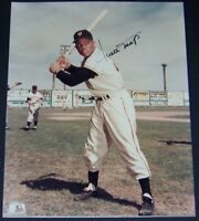 VINTAGE! Willie Mays Signed Autographed Baseball 8x10 Photo JSA Auction LOA!