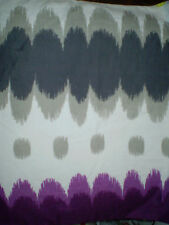 Funky GREY & PURPLE Fabric (50cm x 50cm)