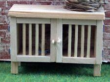 Bare Wood Rabbit Hutch, Dolls House Miniatures, Miniature Pet Accessory Hut