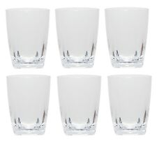 QG 16 oz Clear Acrylic Plastic Wine Glass Cup w/ Heavy Square Base Tumbler 6 pc