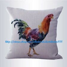 US SELLER-farmhouse animal rooster chicken cushion cover cheap throw pillow sets