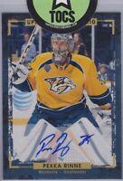 Pekka Rinne 2015-16 Upper Deck Portfolio Signature Nashville Predators