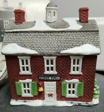 Dept 56 New England Village Town Hall Porcelain Lighted From 1986 Red Brick
