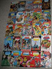 NEW TEEN TITANS (1984-1988 DC Comics) TNT Network TV Nightwing PEREZ #1-25 VF