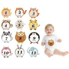 Lovely Animal Baby Monthly Milestone Sticker Baby Shower Photography Prop Tools