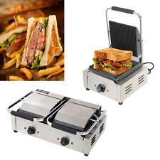 More details for 1800/3600w panini press iron sandwich maker toaster waffle grill non-stick grids
