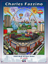 MLB All-Star Game ST. LOUIS 2009 Busch Official Poster Print by Charles Fazzino