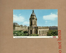 Birmingham St Phillips Cathedral 1970's dennis photocolour card unposted a01