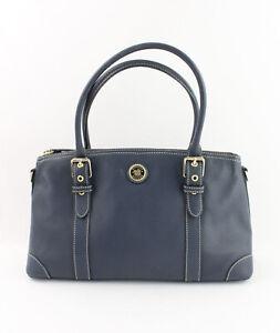Dooney & Bourke Authentic  Navy Blue Pebbled Leather Satchel Handbag