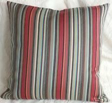 MAHARAM STRIPES Paul Smith ORANGE GREY Modern Mid Century Contemporary Pillow