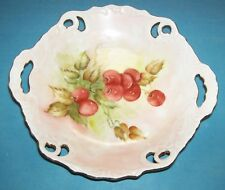 VINTAGE CANDY DISH - HAND PAINTED - SIGNED AND DATED - HAND PAINTED NUT DISH