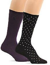 Lauren Ralph Lauren 2-Pack Purple/Black Pindot Trouser Sock, 9-11