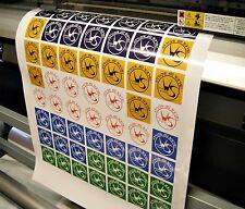 Rimovibile Vinile alcun residuo BULK Order 3 design personalizzati, adesivi, etichette, logotipi