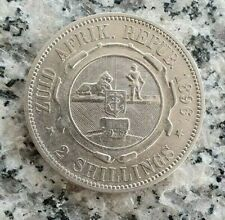 2 Shillings 1896 Silbermünze Republik Südafrika - seltener !