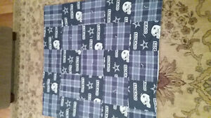 Handmade Dallas Cowboys baby quilt cotton and flannel front / fleece back