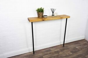 Radiator/Console Table With Hair Pin Legs | 22cm Depth | Reclaimed Timber Style