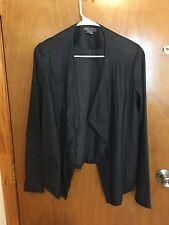 vince women leather navy/dark blue jacket, original $995