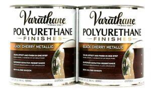 2 Varathane 32 Oz Polyurethane Finishes 287760 Black Cherry Metallic Semi Gloss