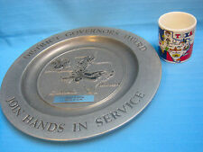 Texas Souvenir Cup & Commemorative Pewter Plate Lighthouse of Houston Award