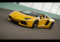 "2014 AVENTADOR LP700 NEW A1 CANVAS GICLEE ART PRINT POSTER FRAMED 33.1""x23.4"""